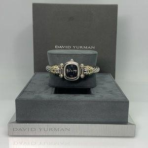 David Yurman 925 & 14k Gold MOP Cable Watch Small